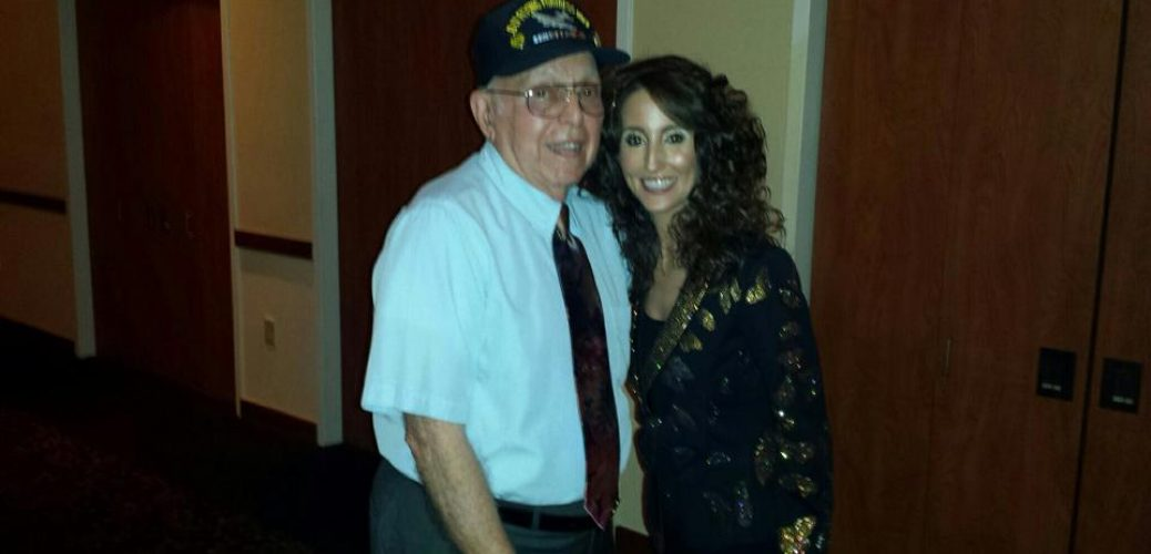 LAURA BRYNA HONORS WWII VETERAN