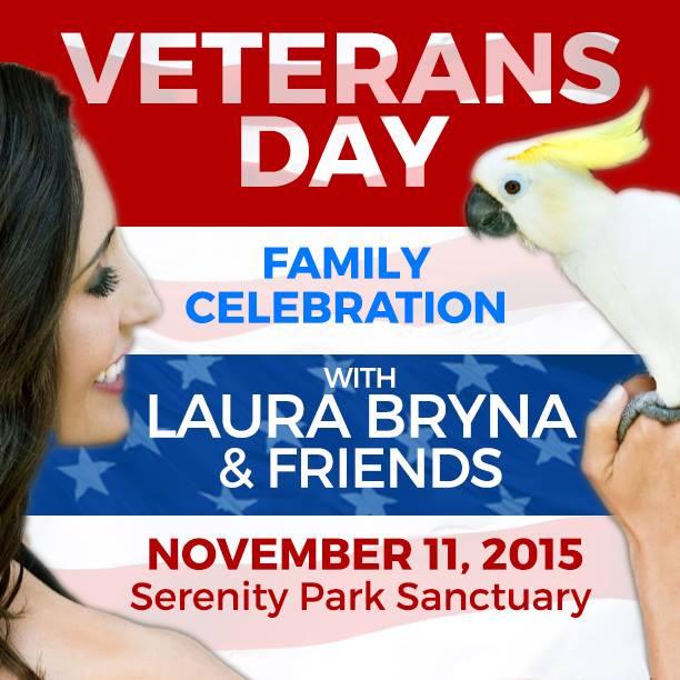 Laura Talks Birds and Veterans Before Big Event