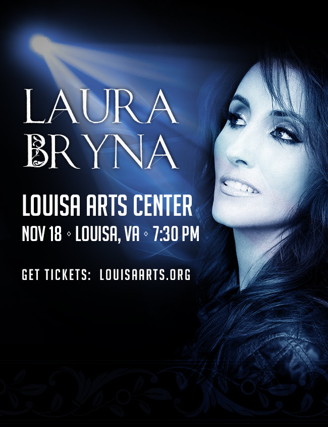 Laura Bryna to Perform at the Louisa Arts Center Nov 18