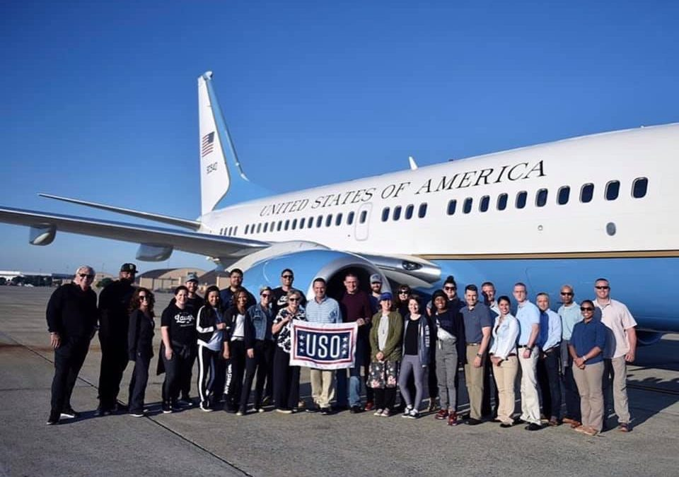LAURA BRYNA TRAVELS ACROSS THE GLOBE TO ENTERTAIN THE TROOPS DURING USO TOUR